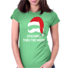 Mustache Christmas - Staching thru the Snow Womens Fitted T-Shirt