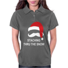 Mustache Christmas - Staching thru the Snow Womens Polo