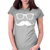 Mustache Glasses Nerd Womens Fitted T-Shirt