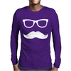 Mustache Wayfarer Mens Long Sleeve T-Shirt