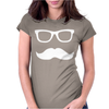 Mustache Wayfarer Womens Fitted T-Shirt