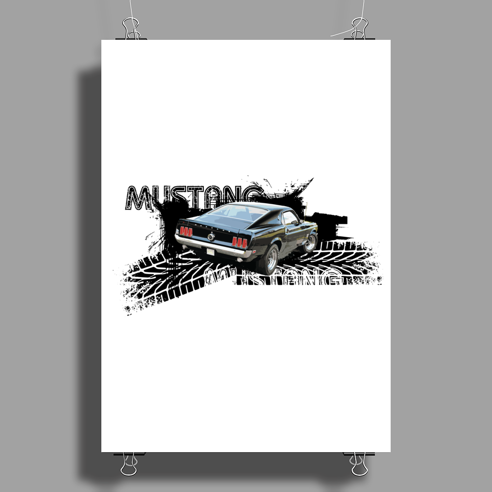 Mustang Poster Print (Portrait)
