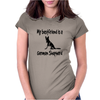My best friend is a German Shepherd Womens Fitted T-Shirt