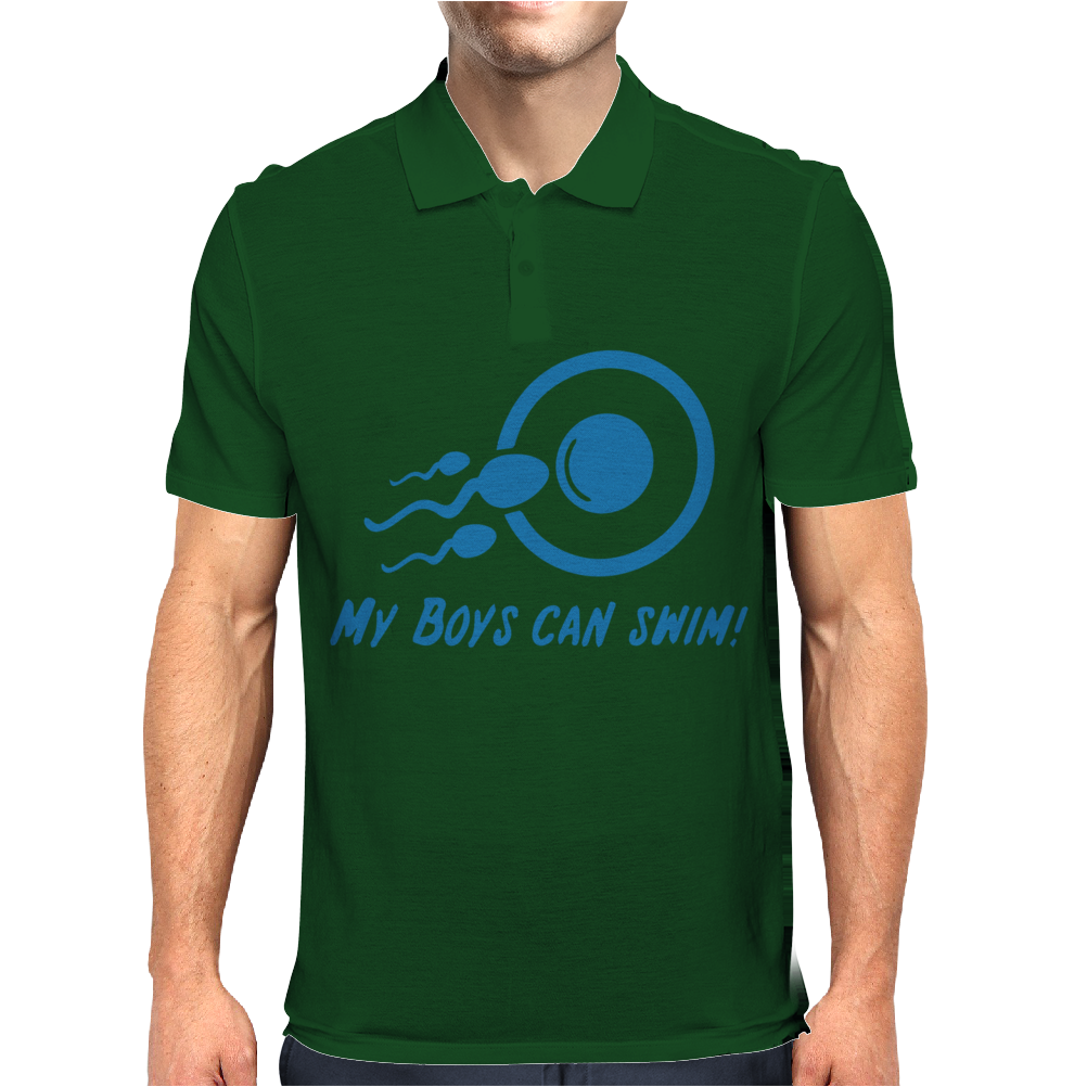 My Boys Can Swim Mens Polo