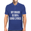 My Brain Is 80% Song Lyrics Mens Polo