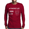 My Bucket List Mens Long Sleeve T-Shirt