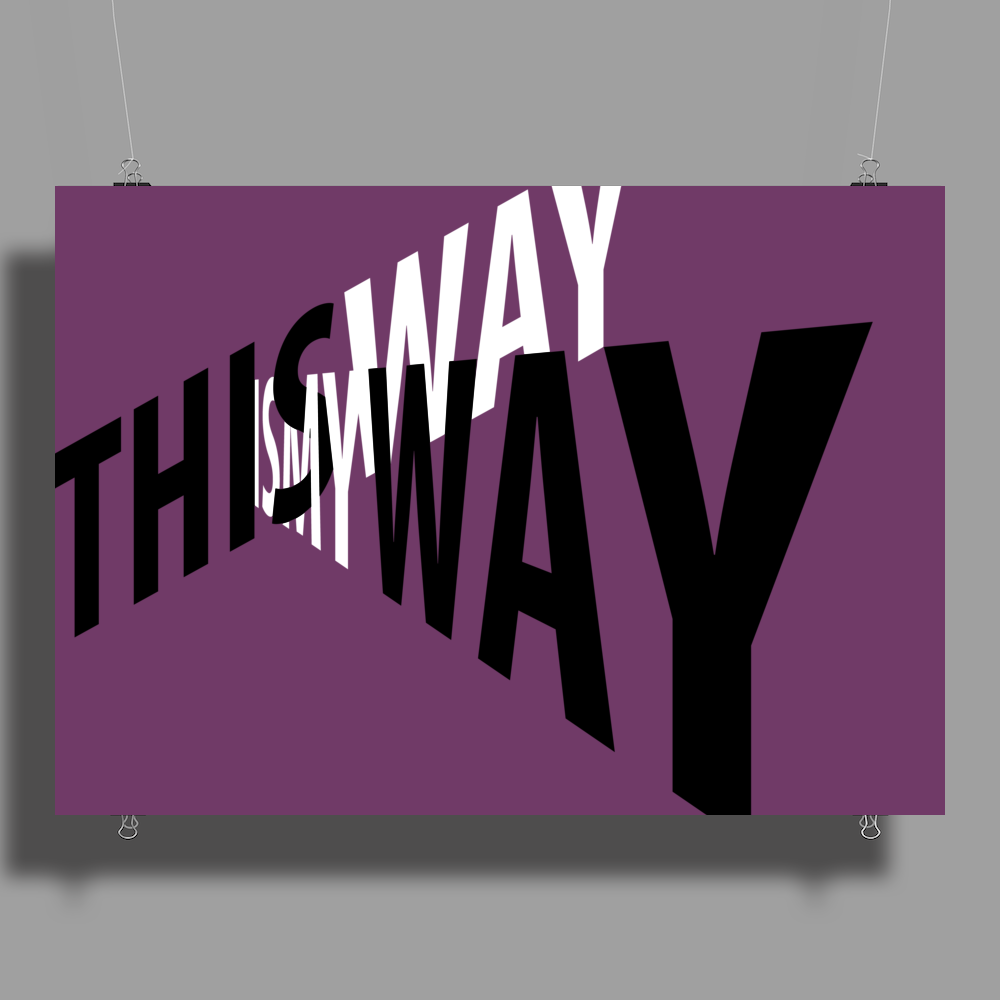 My way. Poster Print (Landscape)