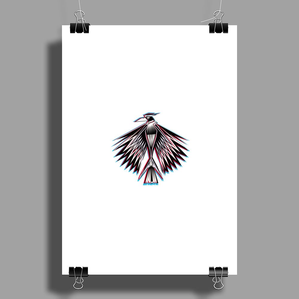 Mystical Bird  Poster Print (Portrait)