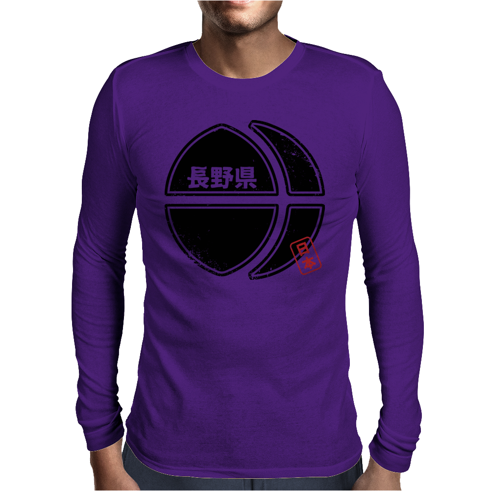 NAGANO Japanese Prefecture Design Mens Long Sleeve T-Shirt