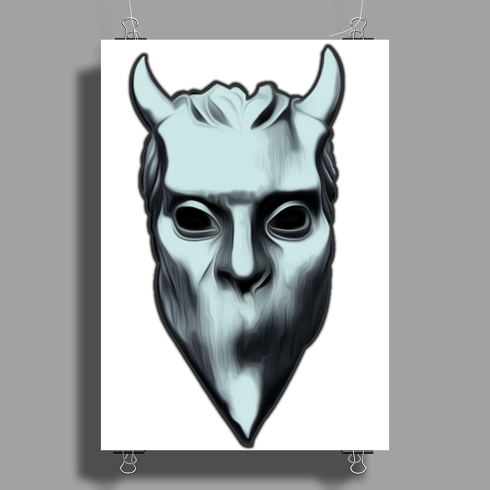 NAMELESS GHOUL SILVER OIL PAINT Poster Print (Portrait)
