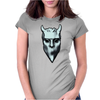 NAMELESS GHOUL SILVER OIL PAINT Womens Fitted T-Shirt