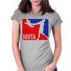 National Midget Tossing Association Funny Womens Fitted T-Shirt