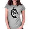 Native Wolf Womens Fitted T-Shirt