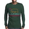 Neon Sign California Republic Flag Bear Mens Long Sleeve T-Shirt