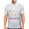 Neon Sign California Republic Flag Bear Mens Polo