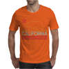 Neon Sign California Republic Flag Bear Mens T-Shirt