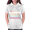 Neon Sign California Republic Flag Bear Womens Polo