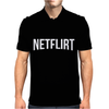 NETFLIX Movie Funny Mens Polo