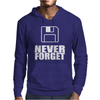Never Forget 3.5 Floppies Mens Hoodie