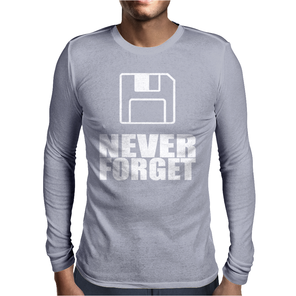 Never Forget 3.5 Floppies Mens Long Sleeve T-Shirt