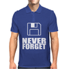 Never Forget 3.5 Floppies Mens Polo