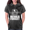 Never Forget 3.5 Floppies Womens Polo