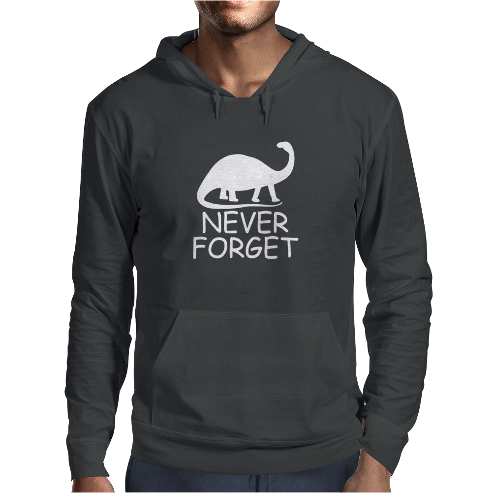 Never Forget The Dinosaurs Mens Hoodie