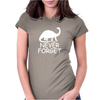 Never Forget The Dinosaurs Womens Fitted T-Shirt