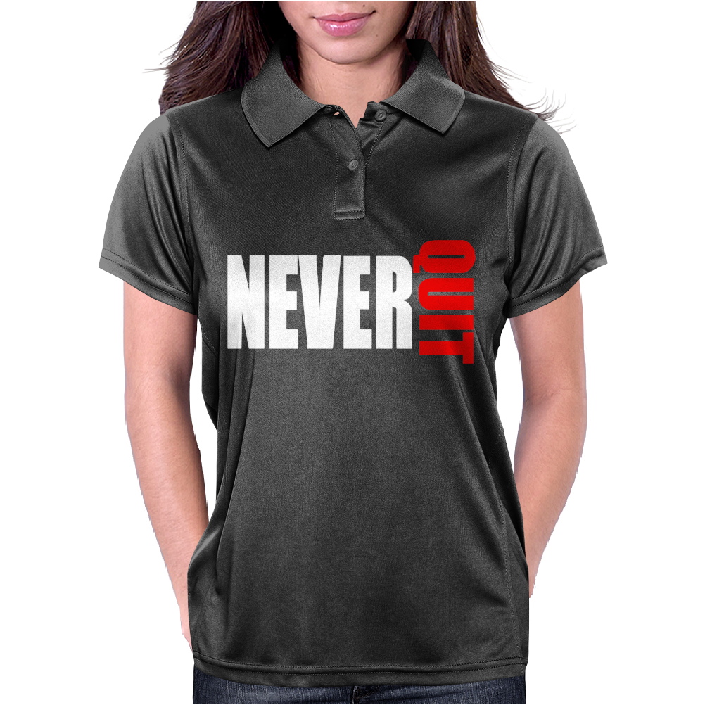 Never Quit Womens Polo
