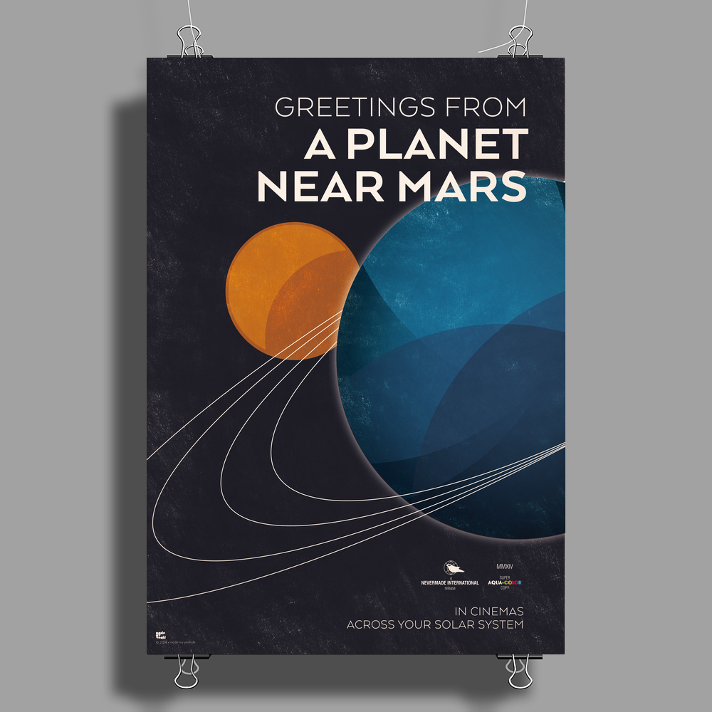NEVERMADE – Greetings from a Planet near Mars Poster Print (Portrait)