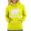 New Bear Deer BEER funny Womens Hoodie