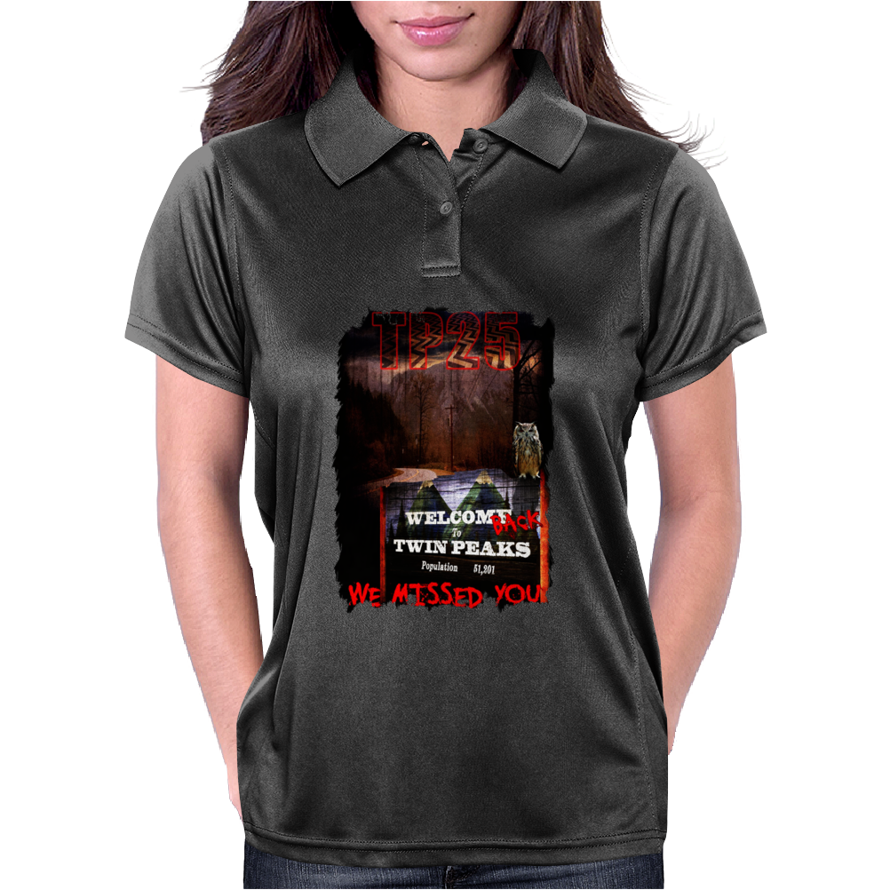 New Black Twin Peaks Agent Cooper 2016 Womens Polo