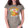 New Christmas Beary Naughty Womens Fitted T-Shirt