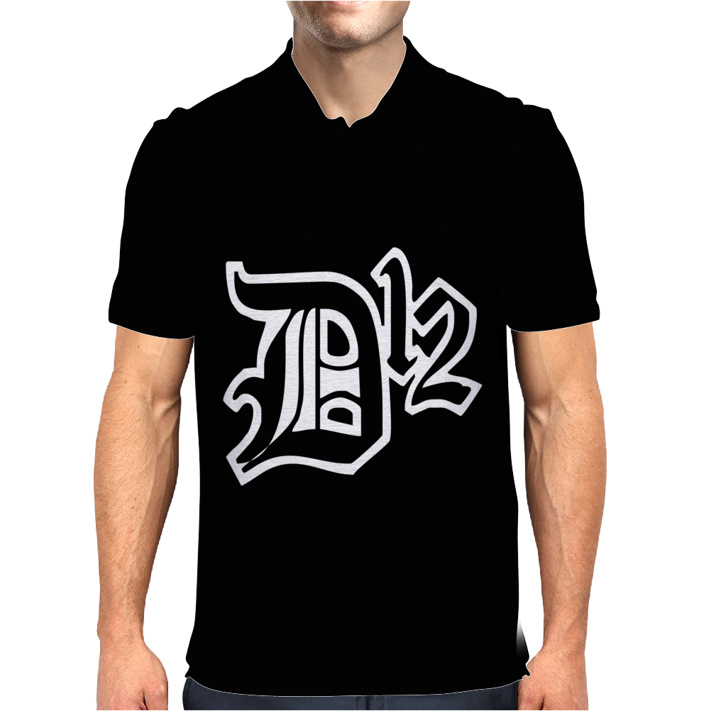 New D12 Rap Hip Hop Music Classic Logo Mens Polo