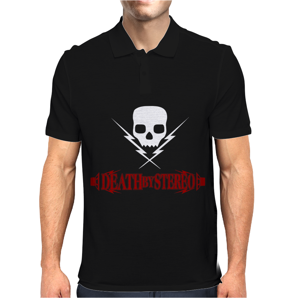 New DEATH BY STEREO Mens Polo