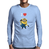 New Despicable Me Minions I Love You Print Women t-shirt White Camisole Vest Mens Long Sleeve T-Shirt
