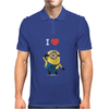 New Despicable Me Minions I Love You Print Women t-shirt White Camisole Vest Mens Polo