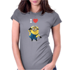 New Despicable Me Minions I Love You Print Women t-shirt White Camisole Vest Womens Fitted T-Shirt
