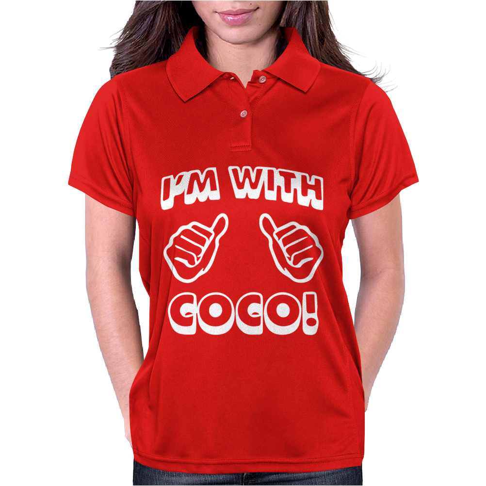 New I'm With Coco Womens Polo
