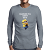 NEW MENS KIDS MINIONS WHATEVER IT IS I DIDNT DO IT NAUGHTY NOVELTY Mens Long Sleeve T-Shirt