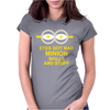 NEW MENS WOMENS KIDS EYE GOT MAD MINION SKILLS AND STUFF FUNNY NOVELTY T SHIRT Womens Fitted T-Shirt