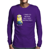 NEW MENS WOMENS KIDS MINIONS I TRIED TO BEHAVE I GOT DISTRACTED NOVELTY T SHIRT Mens Long Sleeve T-Shirt