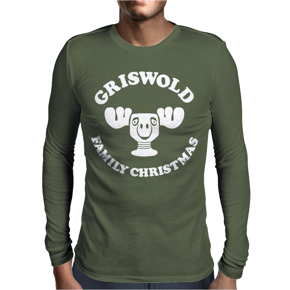 New Nwt Moose Mug Image Griswold Christmas Mens Long Sleeve T-Shirt