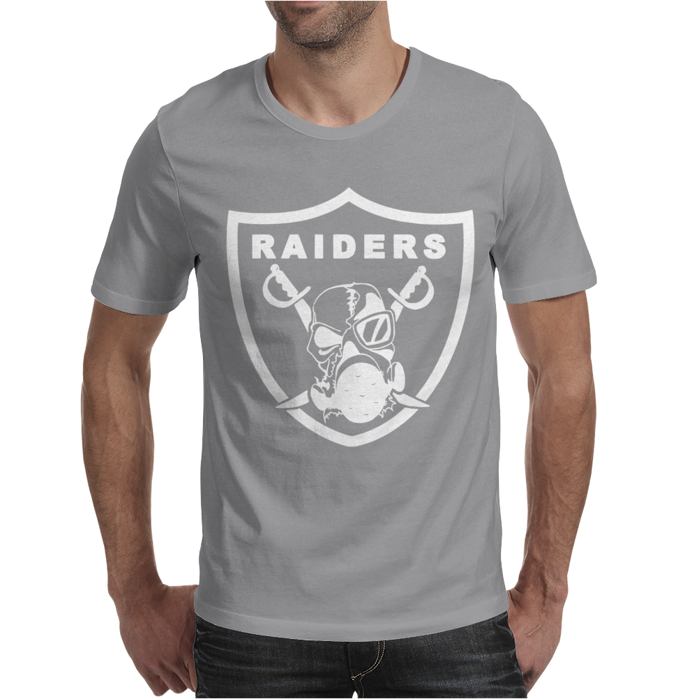 New Oakland California Football Raiders Mask Skulls Mens T-Shirt