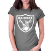 New Oakland California Football Raiders Mask Skulls Womens Fitted T-Shirt