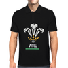 New Official Wru Welsh Rugby Printed Contrast Mens Polo