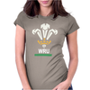 New Official Wru Welsh Rugby Printed Contrast Womens Fitted T-Shirt