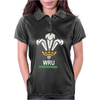 New Official Wru Welsh Rugby Printed Contrast Womens Polo