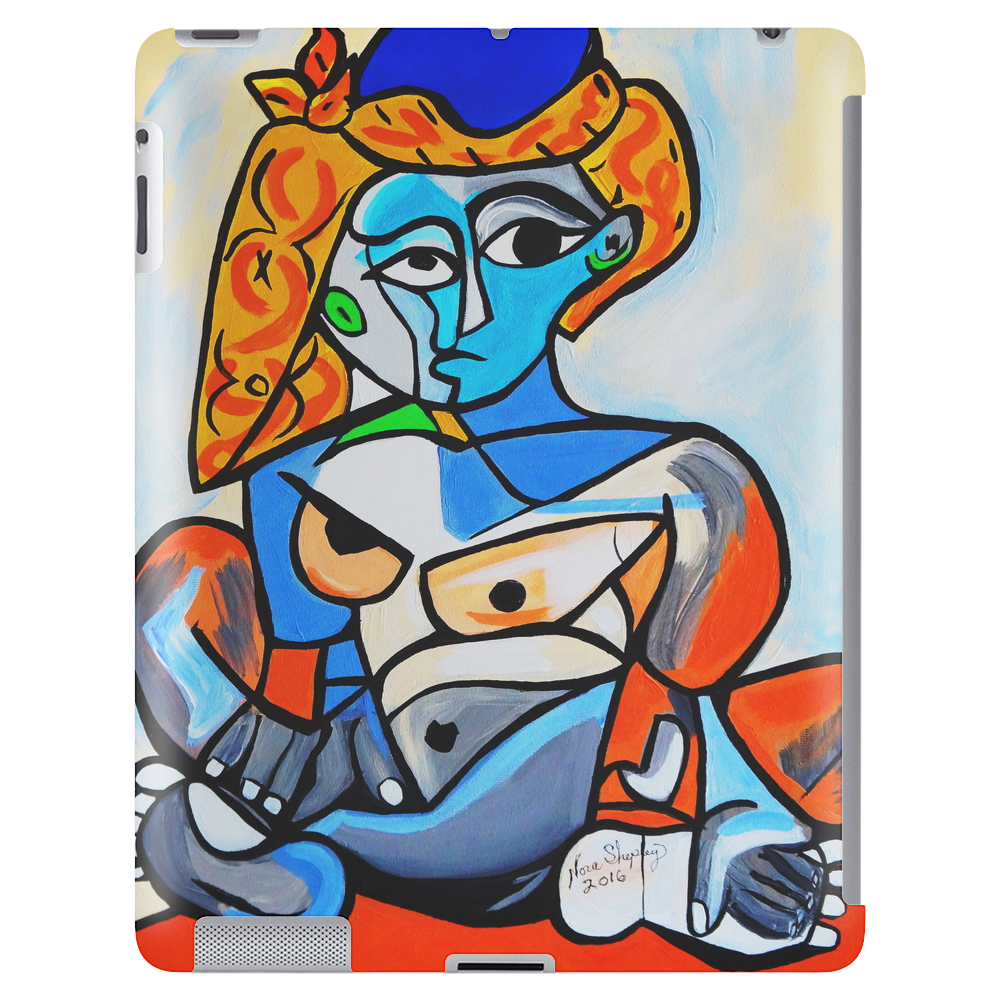 NEW PICASSO BY NORA NUDE WOMAN WITH TURKISH HAT Tablet