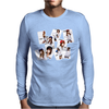 New SNSD Girls' Generation Navy Uniforms Mens Long Sleeve T-Shirt